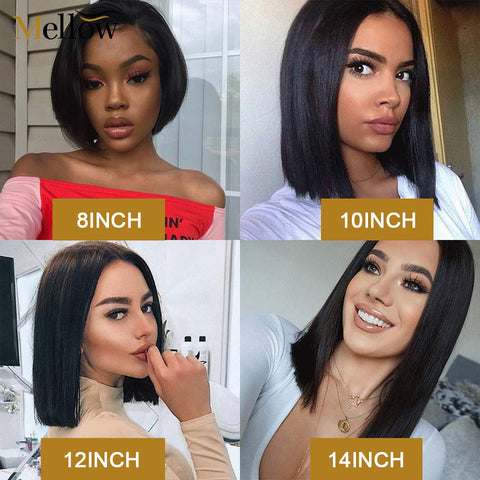 Straight Lace Front Bob Wigs With Baby Hair Cheap Short Wigs
