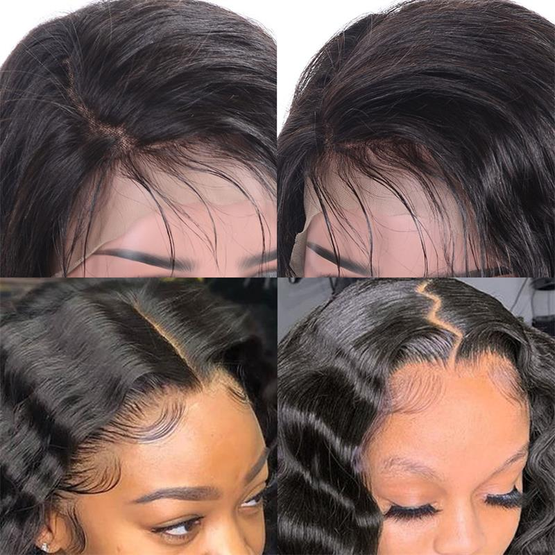 4x4 lace closure wigs with baby hair