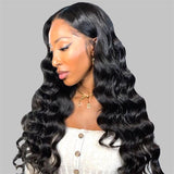 loose deep 4x4 lace closure human hair wigs