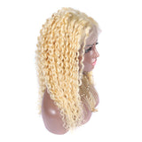 #613 deep curly 4x4 lace closure wig pre plucked hairline