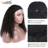 Head Band Wig Curly Hair Headband Wigs Human Hair With Headbands