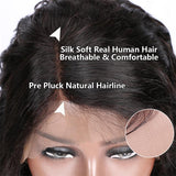 water wave 4x4 lace closure human hair wigs with baby hair