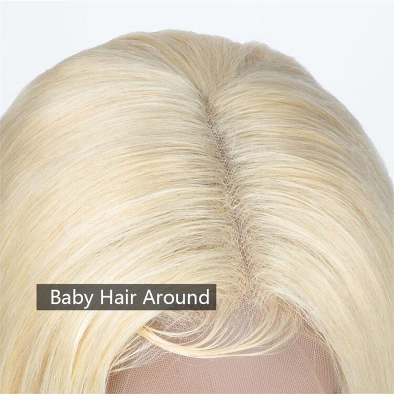 613 straight lace front human hair wigs with baby hair