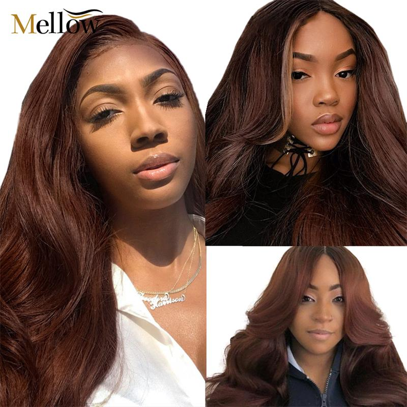 #4 colored body wave human hair lace front wigs