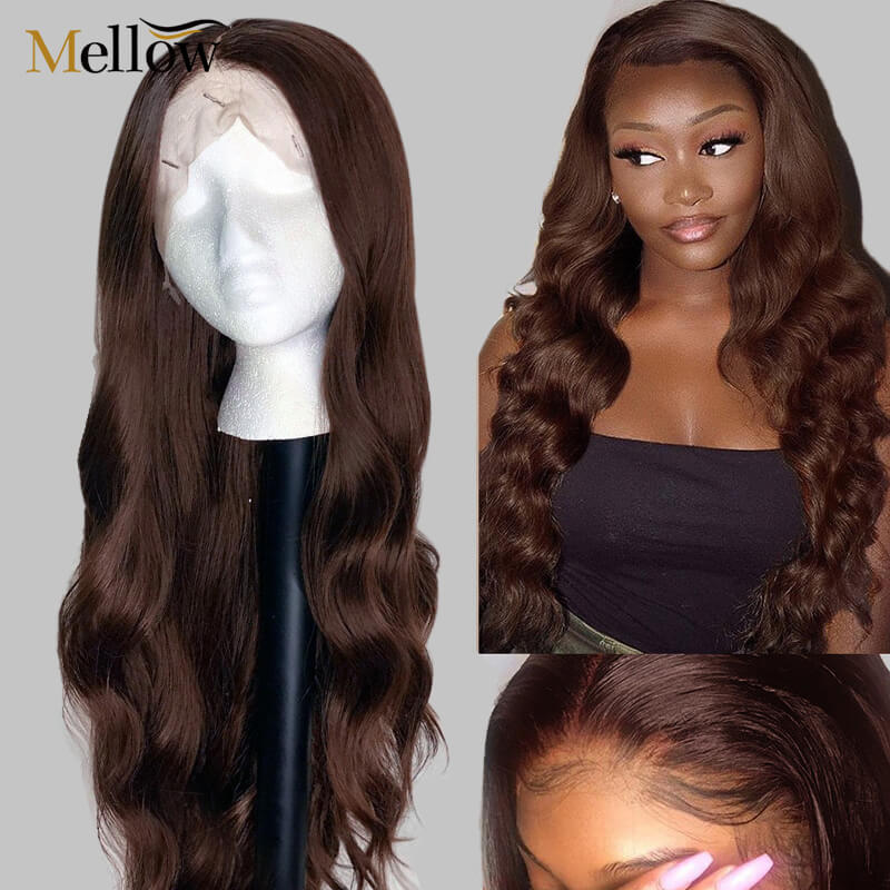 #4 colored body wave lace front wigs