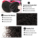 soft curly human hair bundles