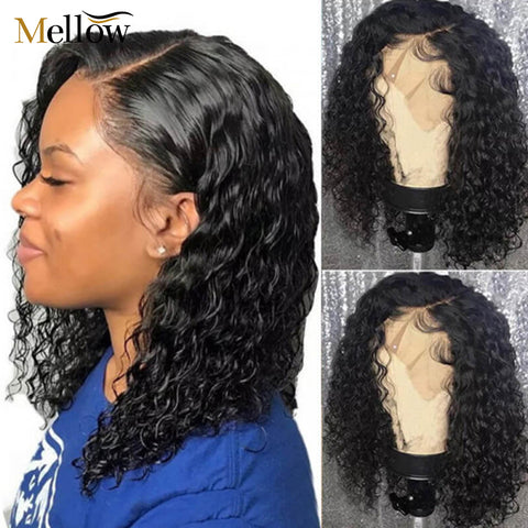 deep wave short bob wigs
