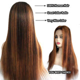 ombre color straight lace front wigs pre plucked hairline
