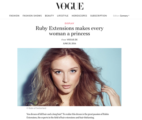 Rubin Extensions Vogue Feature