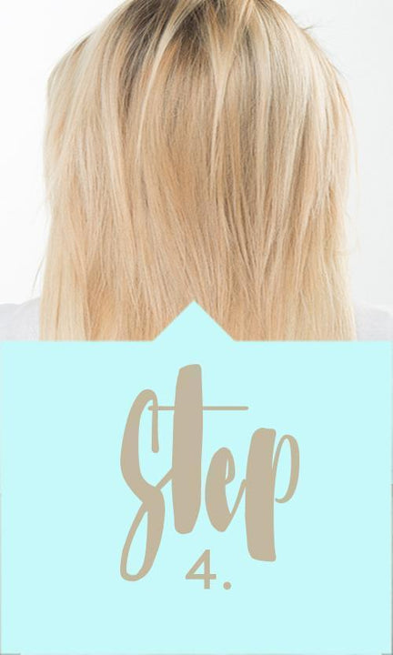 Step 4 - Flip-in Hair Extensions Application