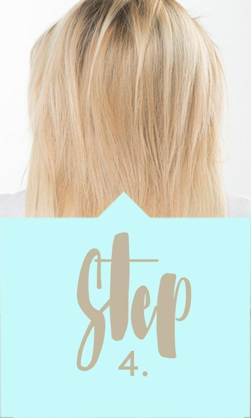 Step 3 One Piece Hair Extensions Application