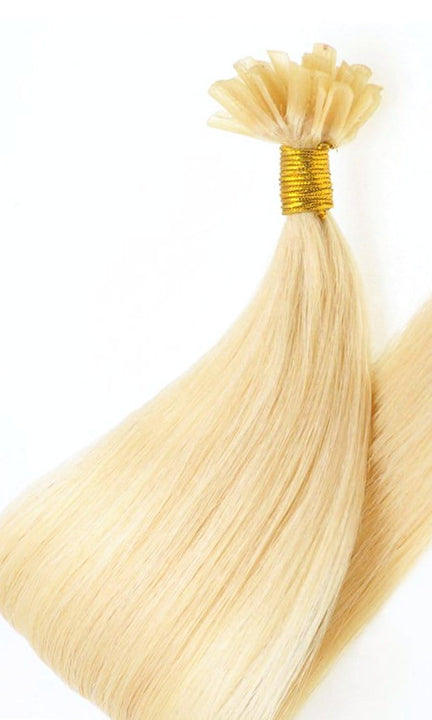 Goldblond Keratin Bonding Hair Extensions - 100% Echthaar