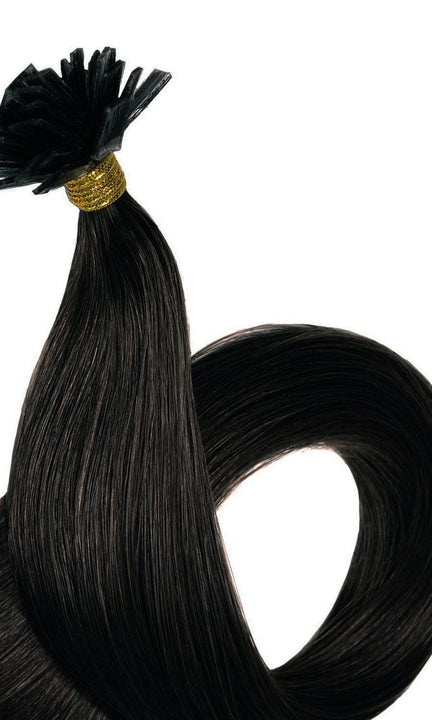 FASHION LINE Schwarz-Braun Keratin Bonding Hair Extensions