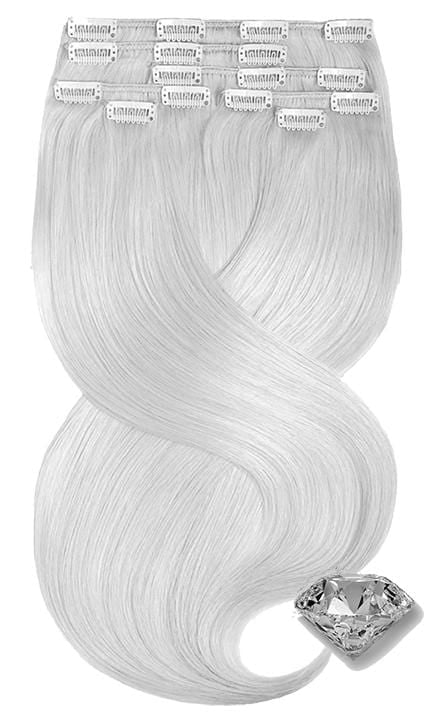 PURE DIAMONDS LINE Silberblond Clip-in Extensions