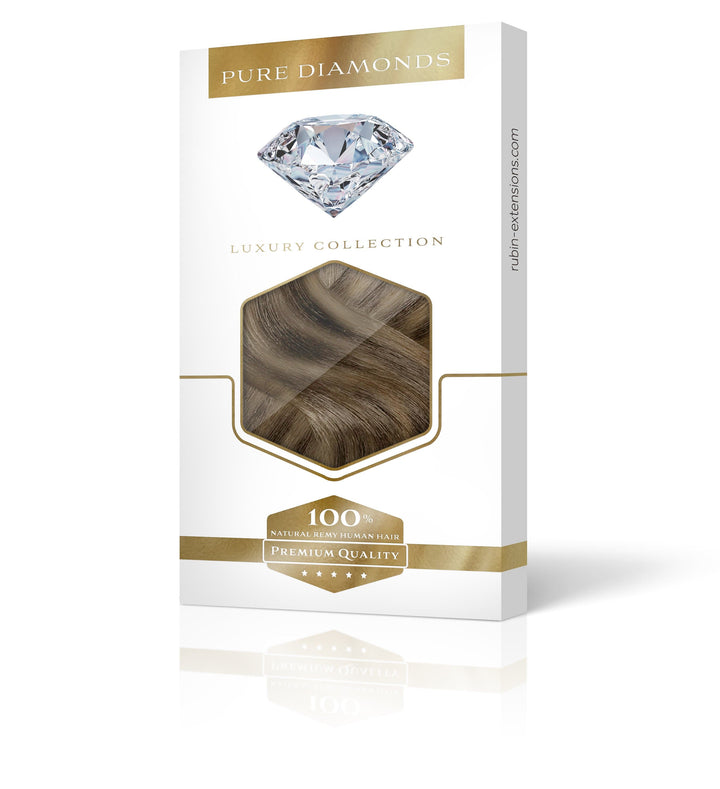 PURE DIAMONDS LINE Natur-Goldbraun & Hellbraun-Karamell Clip-in Extensions