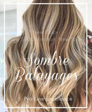 DELUXE LINE SOMBRE-BALAYAGE Schoko-Dunkelbraun & Platinblond Clip-in Extensions