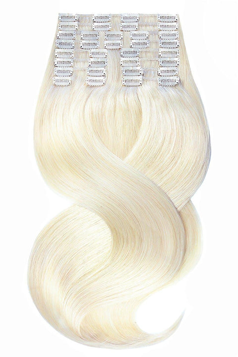 DELUXE LINE Hellblond Clip-in Extensions