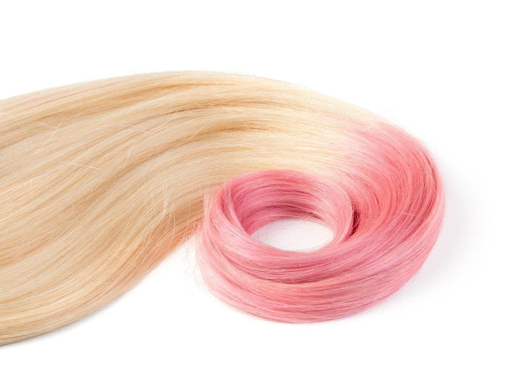 Clip-in Haarverlängerung - Hellblond and Pink Farbe