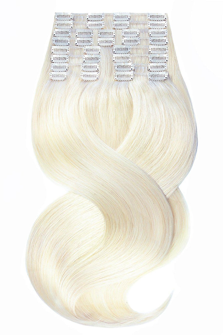 Platinblond Clip-in Hair Extensions - Deluxe Line