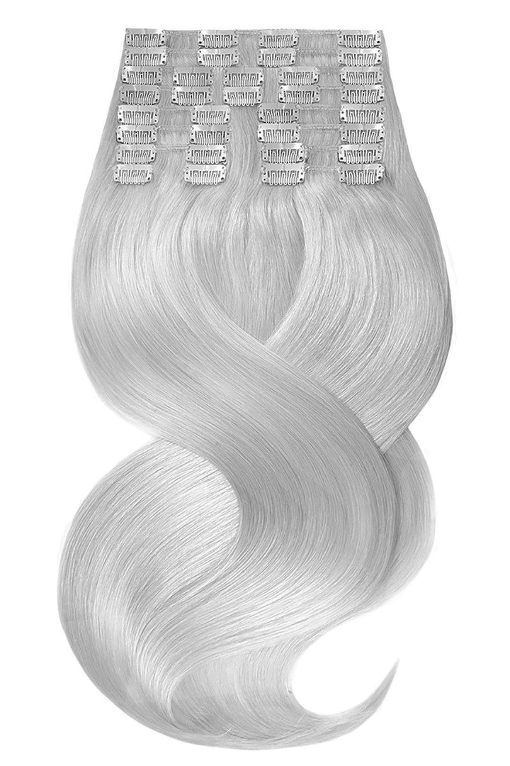 DELUXE LINE Silberblond Clip-in Hair Extensions