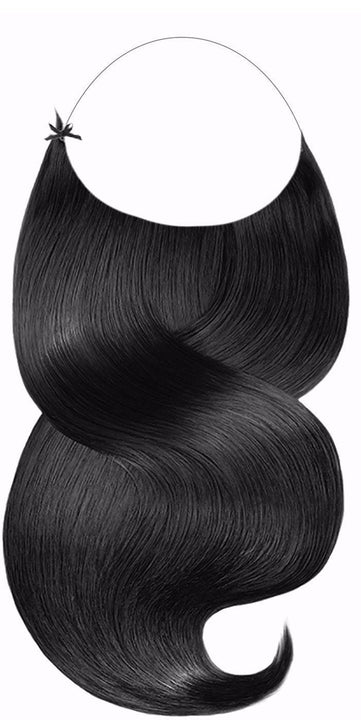Schwarz One Piece Hair Extensions