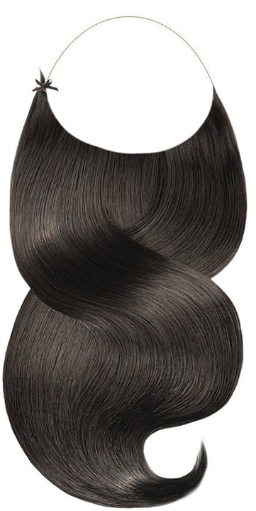 One Piece Schwarz-Braun Hair Extensions
