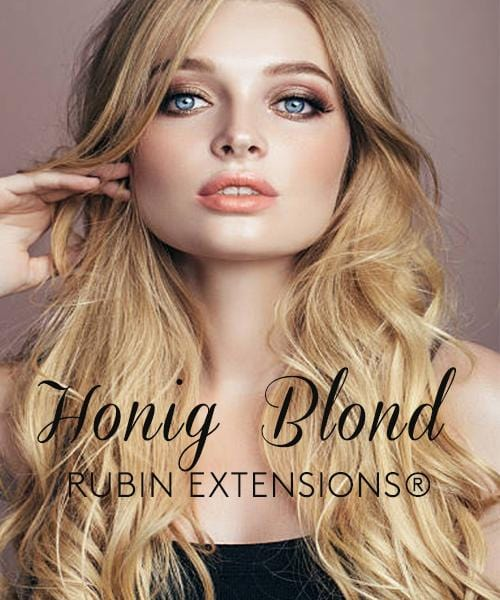 Honigblond Tape-in Hair Extensions from Rubin Extensions