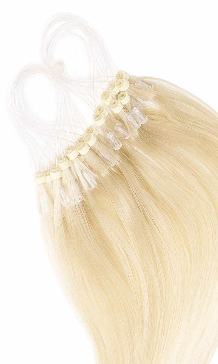 Goldblond Microring Hair Extensions - 100% Echthaar