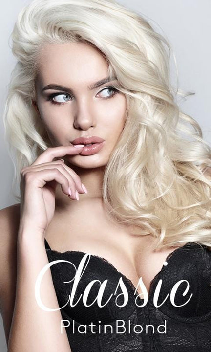 Classic Platinblond Hair Extensions from Rubin Extensions