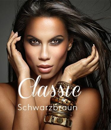 Schwarz-Braun Clip-in Natural Hair Extensions