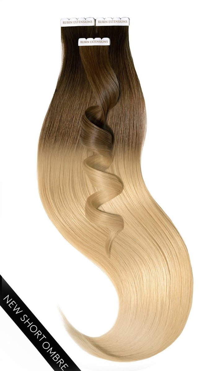 PRO DELUXE LINE OMBRÉ Natur-Goldbraun & Honigblond Tape-in Extensions