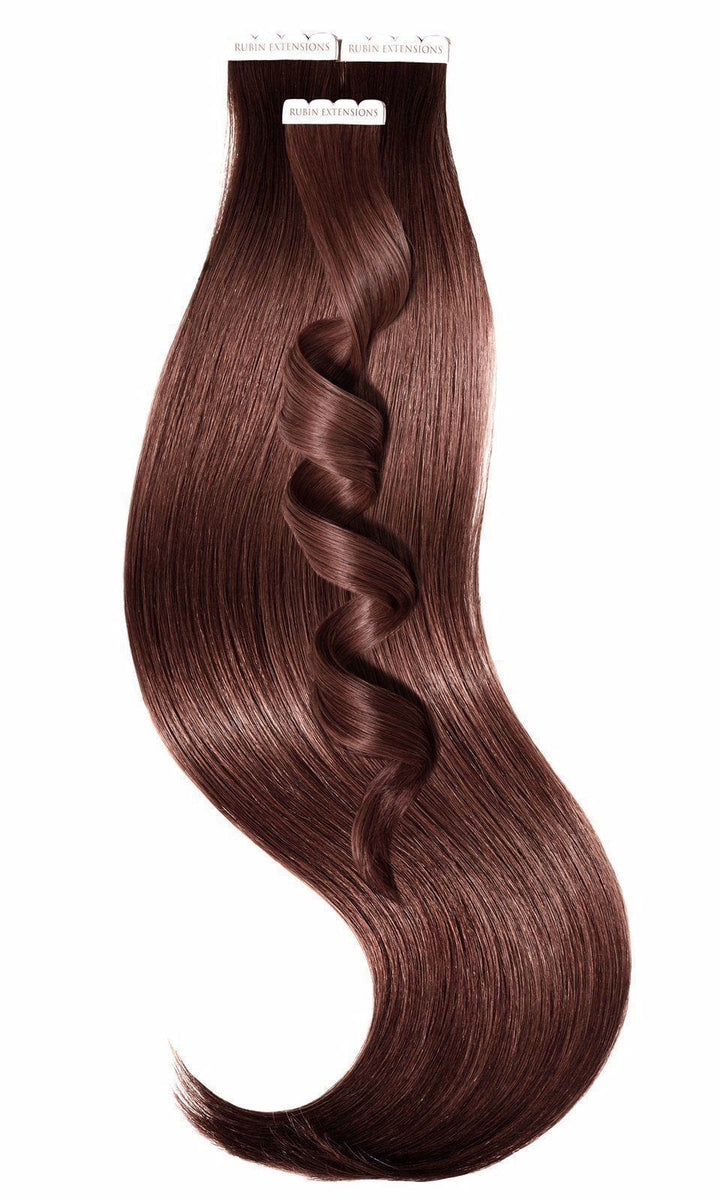 PREMIUM LINE Mahagoni-Braun Tape-in Hair Extensions