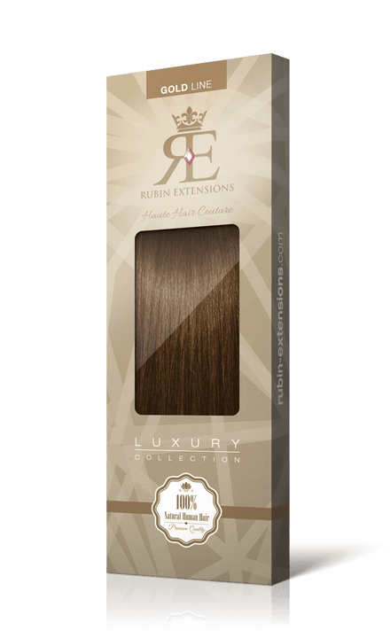 Natur-Goldbraun Stirnfransen Clip-in Extensions