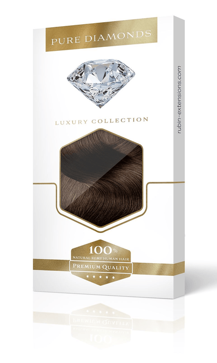 PURE DIAMONDS LINE Kastanien-Dunkelbraun Clip-in Hair Extensions