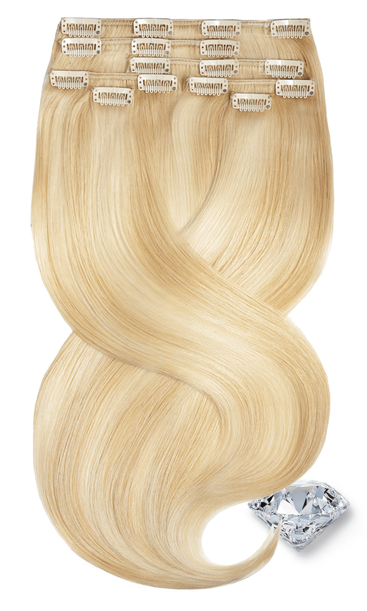 Honigblond & Hellblond Clip-in Hair Extensions