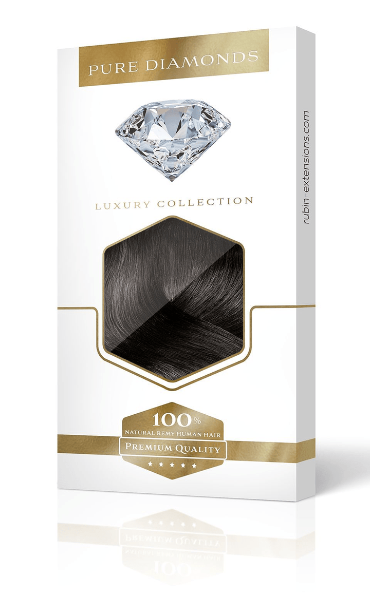 PURE DIAMONDS LINE Schwarz-Braun Flip-in Extensions