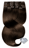PURE DIAMONDS LINE Schoko-Dunkelbraun Clip-in Extensions