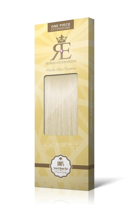 RUBIN LINE Hellblond One Piece Flip-in Extensions