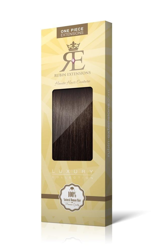 Schoko-Dunkelbraun One Piece Hair Extensions