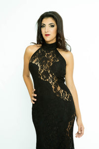 Semi Transparent lace dress