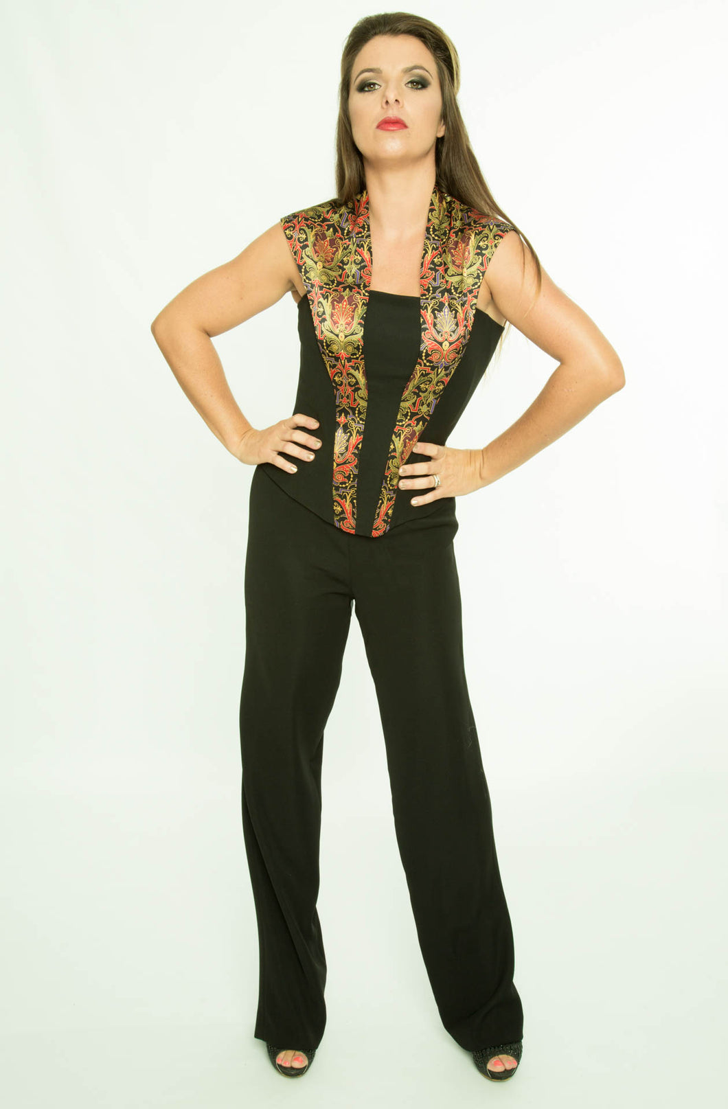 Smoking Collar bodice with Trousers