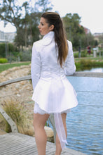 Jacket and short skirt with appliques on skirt hem (Detachable train)