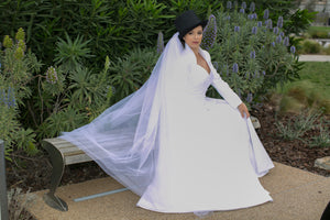 Bridal jacket & A line skirt with removable tulle train