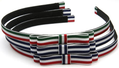 Striped grosgrain ribbon headband