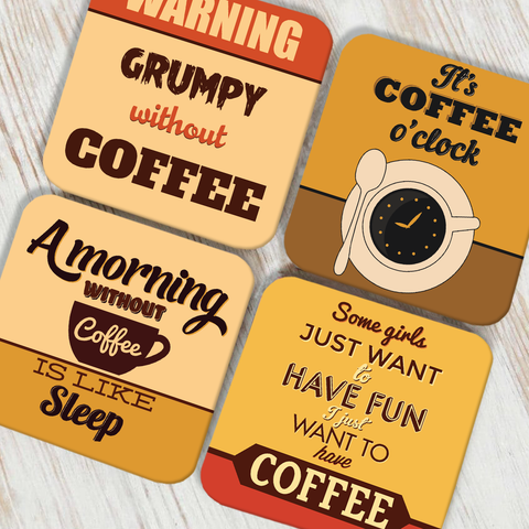 Love For Coffee Coaster Set of 4