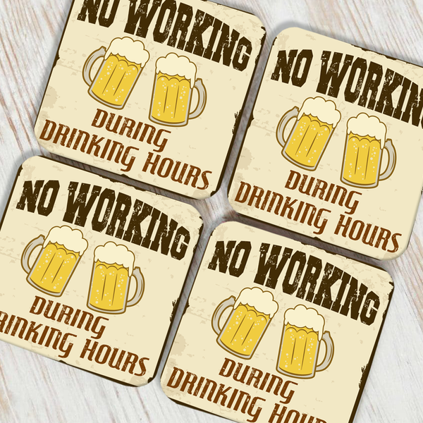 No Working Coaster Set of 4