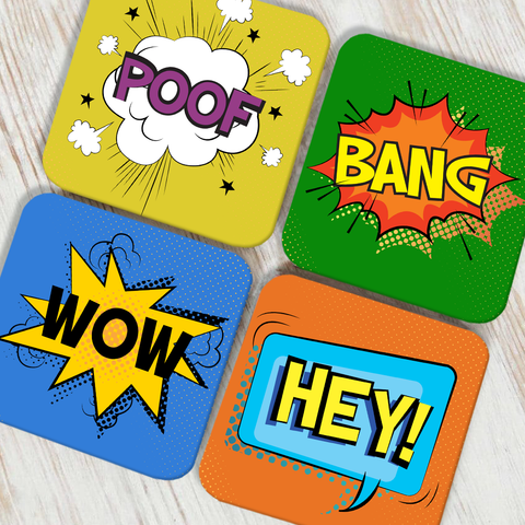 Emoticons Coaster Set of 4