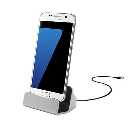 Android Micro USB Charging Dock - Silver