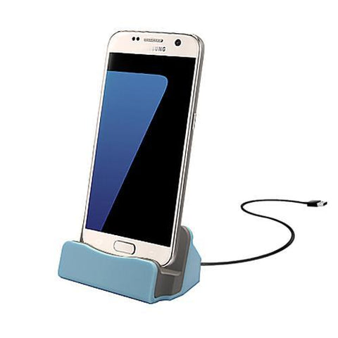 Android Micro USB Charging Dock - Blue