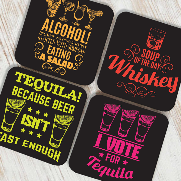 I Vote Coaster Set of 4